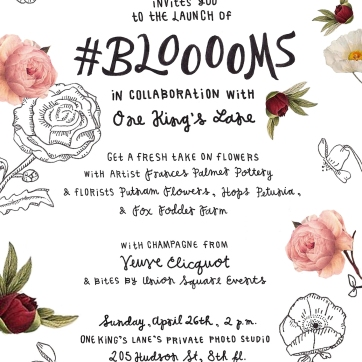#BLOOOOMS Invitation for Zio & Sons
