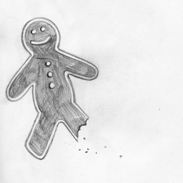 Pencil Sketch | Gingerbread Bites