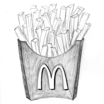 Pencil sketch   Fries