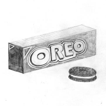 Pencil sketch   Oreos