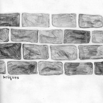 Pencil sketch   Bricks