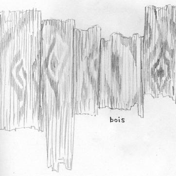 Pencil sketch   Wood