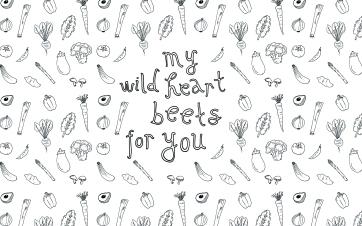 My wild heart | Veggie pattern