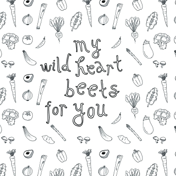 My wild heart | Veggie pattern